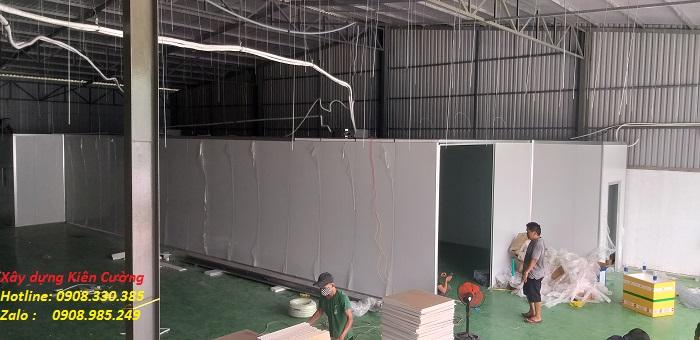thi công vách ngăn panel cach nhiệt cho nhà xưởng tại hcm