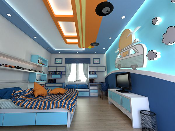 Đóng trần thạch cao phòng ngủ