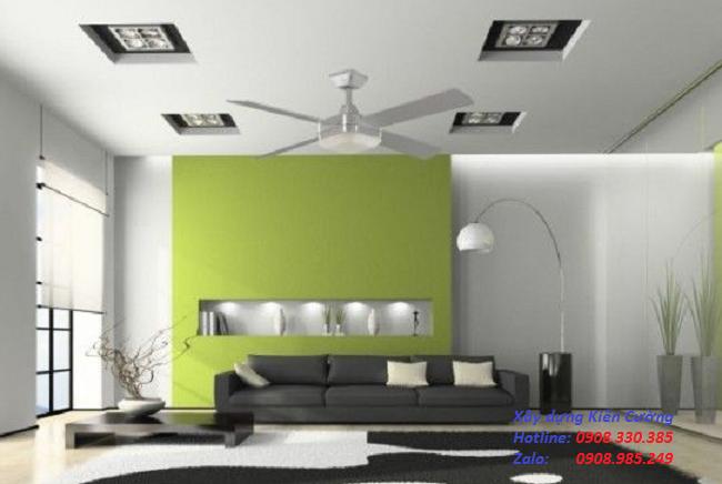vách ngăn thạch cao phòng ngủ phòng khách