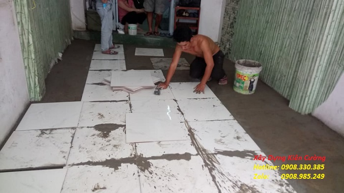 thi công lát gạch sửa chữa nhà trọn gói