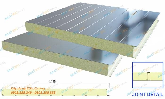 cấu tạo tấm vách panel chống cháy PU