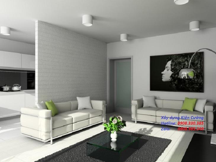 Vách ngăn thạch cao phòng khách